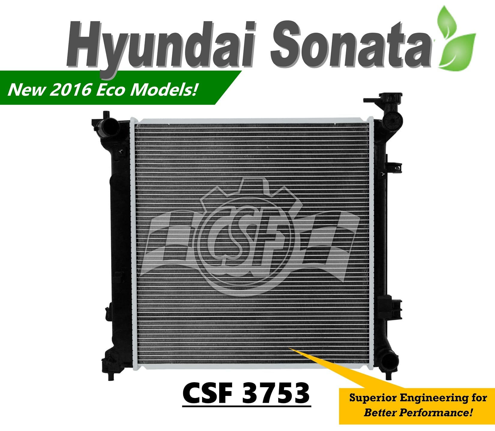 2016 Sonata Eco Radiator by CSF Radiators, the Cooling Experts