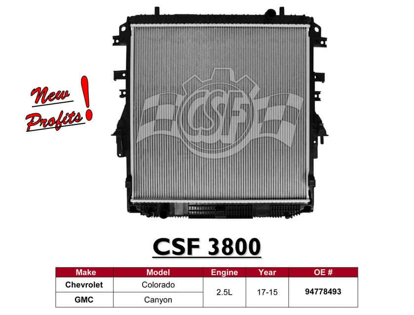CSF 3800 GM Canyon & Colorado Radiator