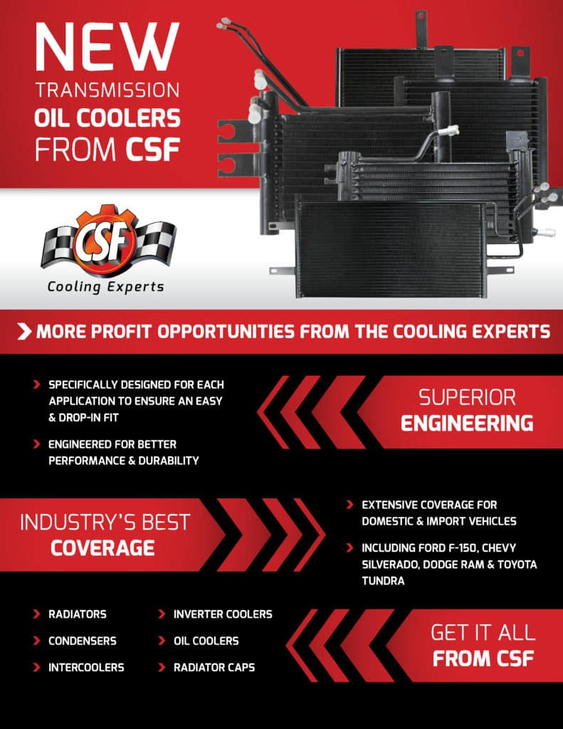 Stay Cool with CSF's New Transmission Oil Coolers