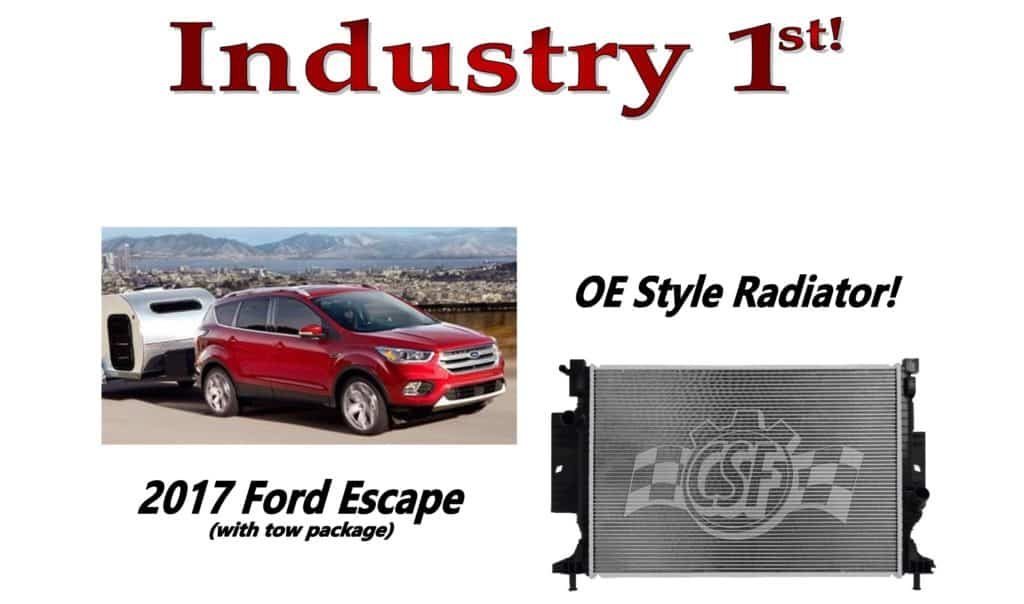 2017 ford escape with tow radiator