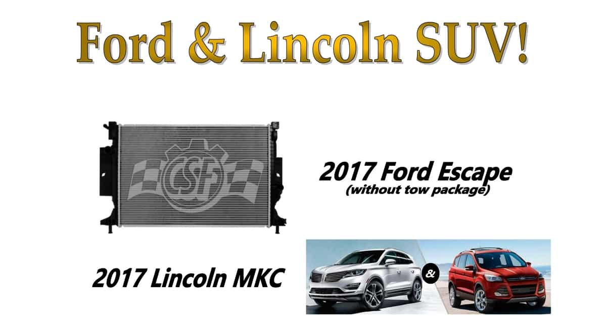 2018 Ford Escape Radiator By Csf  The Cooling Experts